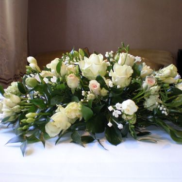 A long low table arrangement