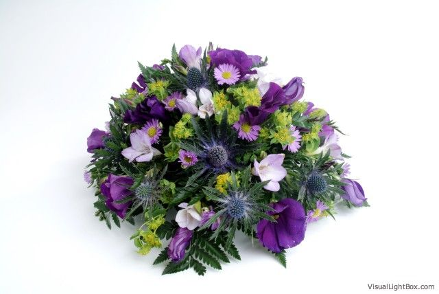 Purple posy arrangement