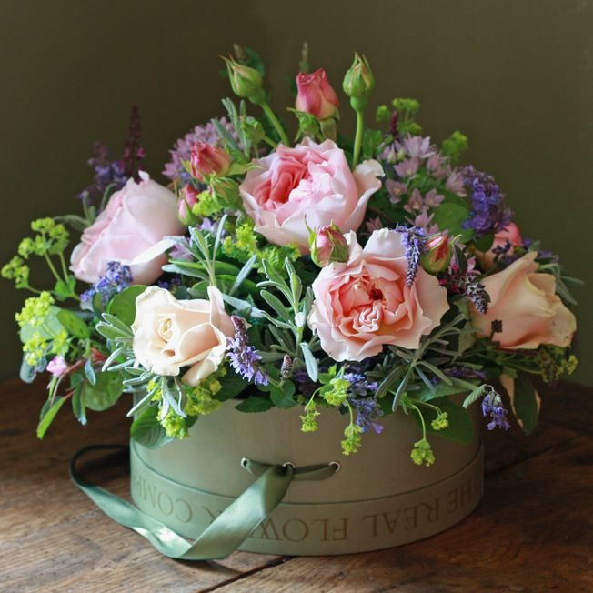 Mothers day hat box arrangement