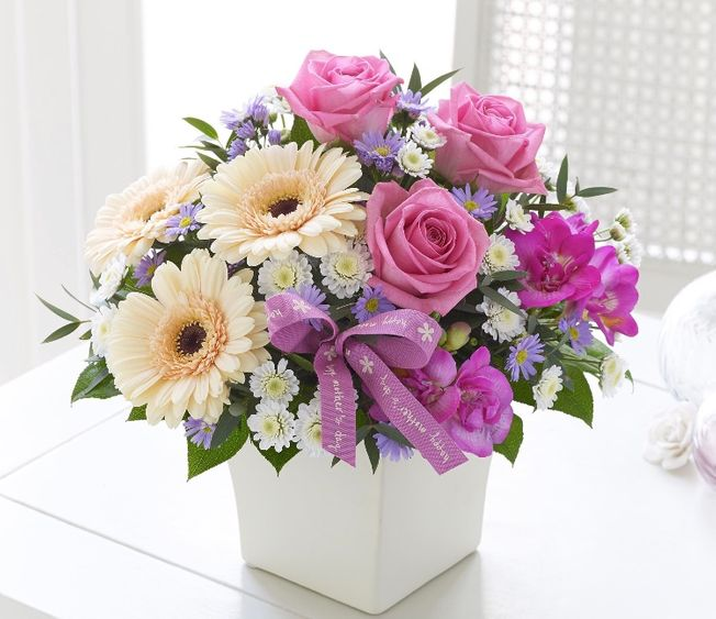Mothers day Arrangement in a ceramic container