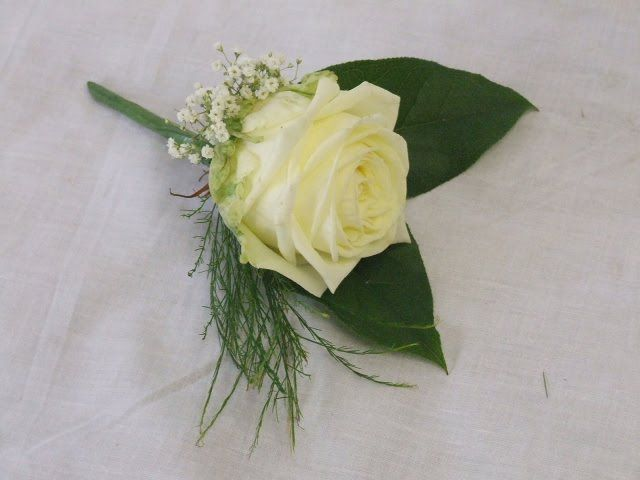 A rose buttonhole