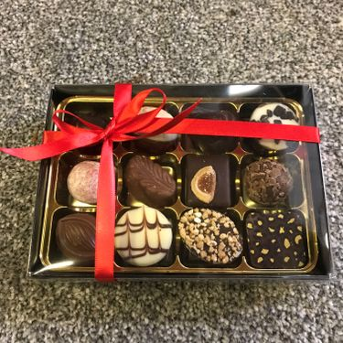 Box of 12 luxury chocolates