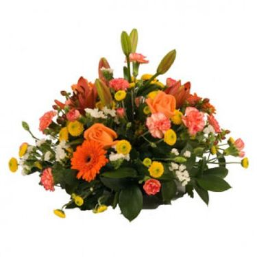 Orange posy arrangement