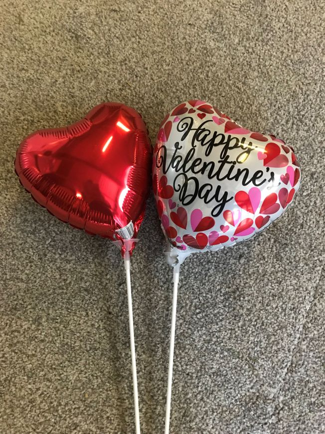 Heart shape balloon on stick